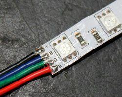 Как правильно спаять светодиодную (LED, RGB) ленту: пошаговая инструкция