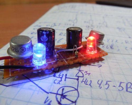 Как сделать мигалку из светодиода: инструкции и схемы