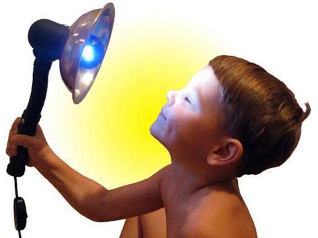 Использование лампы