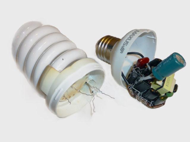 Разобранная лампа