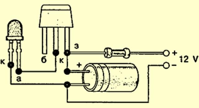 Схема светодиода